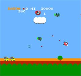 In game image of Vs. Super SkyKid on the Arcade.
