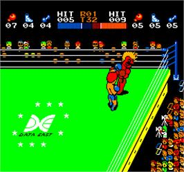 In game image of Vs. T.K.O. Boxing on the Arcade.