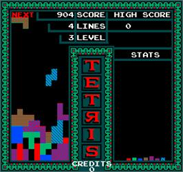 In game image of Vs. Tetris on the Arcade.