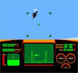 In game image of Vs. Top Gun on the Arcade.