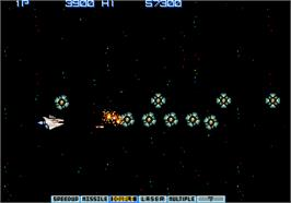 In game image of Vulcan Venture on the Arcade.