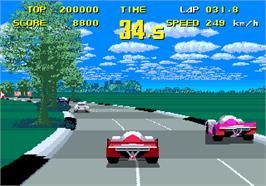 In game image of WEC Le Mans 24 on the Arcade.