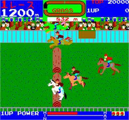 In game image of Wai Wai Jockey Gate-In! on the Arcade.
