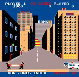 In game image of Wall Street on the Arcade.