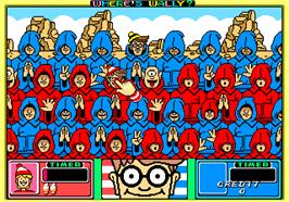 In game image of Wally wo Sagase! on the Arcade.