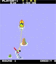 In game image of Water Ski on the Arcade.