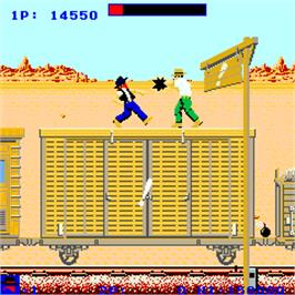 In game image of Western Express on the Arcade.