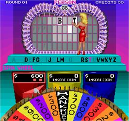 In game image of Wheel Of Fortune on the Arcade.