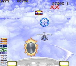 In game image of Wild Pilot on the Arcade.