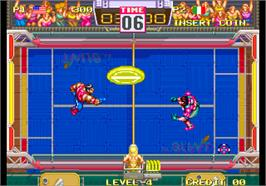 In game image of Windjammers / Flying Power Disc on the Arcade.