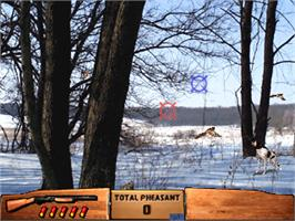 In game image of Wing Shooting Championship V1.01 on the Arcade.