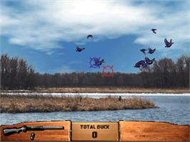In game image of Wing Shooting Championship V2.00 on the Arcade.