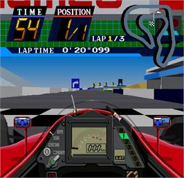 In game image of Winning Run 91 on the Arcade.