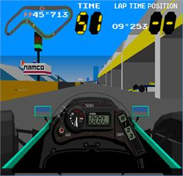In game image of Winning Run Suzuka Grand Prix on the Arcade.