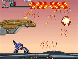 In game image of Wolf Fang -Kuhga 2001- on the Arcade.