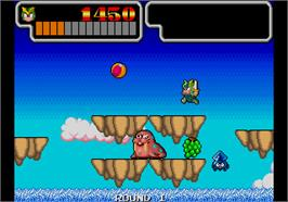 In game image of Wonder Boy III - Monster Lair on the Arcade.