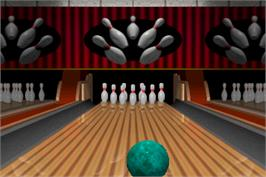 In game image of World Class Bowling on the Arcade.