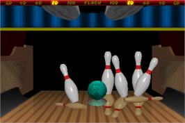 In game image of World Class Bowling Deluxe on the Arcade.