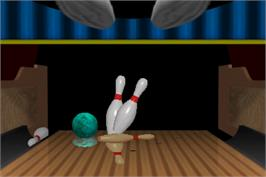 In game image of World Class Bowling Tournament on the Arcade.