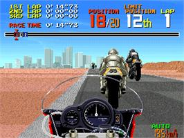 In game image of World Grand Prix on the Arcade.