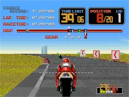 In game image of World Grand Prix 2 on the Arcade.