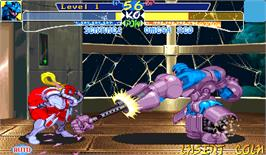 In game image of X-Men: Children of the Atom on the Arcade.