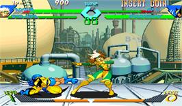 In game image of X-Men Vs. Street Fighter on the Arcade.
