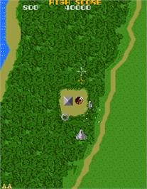 In game image of Xevios on the Arcade.