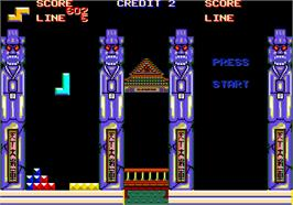 In game image of Xyonix on the Arcade.