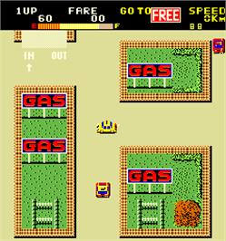 In game image of Yellow Cab on the Arcade.