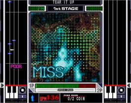In game image of beatmania 6th MIX on the Arcade.
