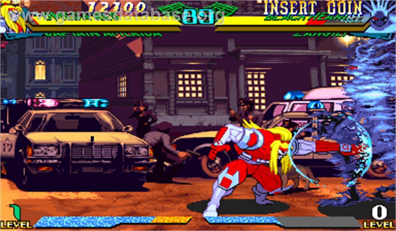 Marvel Super Heroes Vs Street Fighter Arcade Artwork In Game