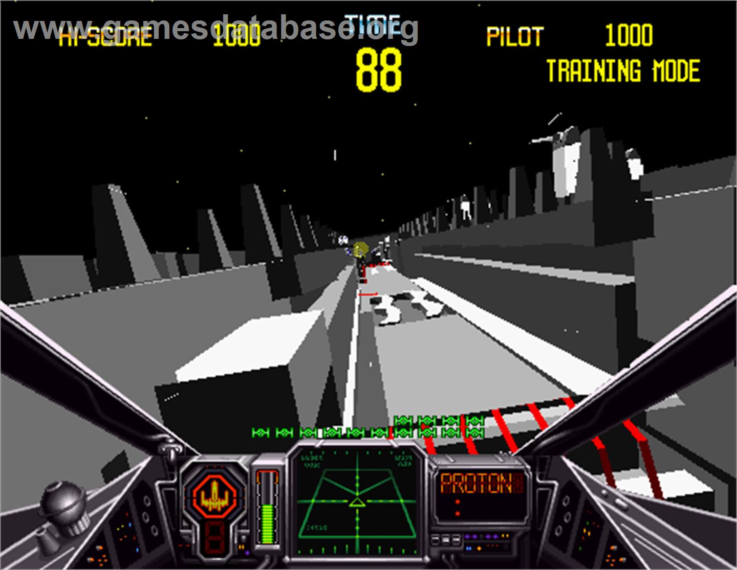 a screen shot from the game Star Wars Arcade in 1993