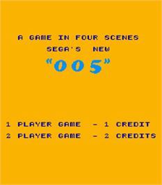 Title screen of 005 on the Arcade.