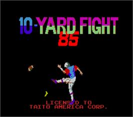 Title screen of 10-Yard Fight '85 on the Arcade.