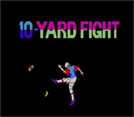 Title screen of 10-Yard Fight on the Arcade.