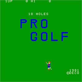 Title screen of 18 Holes Pro Golf on the Arcade.
