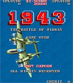 Title screen of 1943: The Battle of Midway on the Arcade.