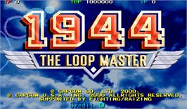 Title screen of 1944: The Loop Master on the Arcade.