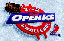 Title screen of 2 On 2 Open Ice Challenge on the Arcade.