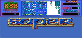 Title screen of 3 Super 8 on the Arcade.