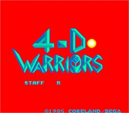 Title screen of 4-D Warriors on the Arcade.