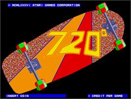 Title screen of 720 Degrees on the Arcade.