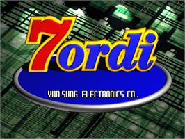 Title screen of 7 Ordi on the Arcade.