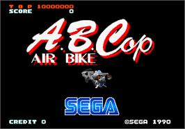 Title screen of A.B. Cop on the Arcade.