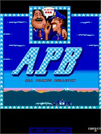 Title screen of APB - All Points Bulletin on the Arcade.