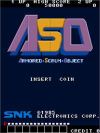 Title screen of ASO - Armored Scrum Object on the Arcade.