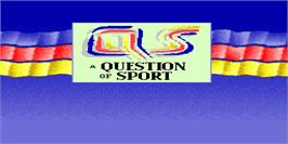Title screen of A Question of Sport on the Arcade.