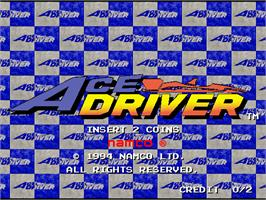 Title screen of Ace Driver on the Arcade.