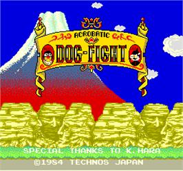 Title screen of Acrobatic Dog-Fight on the Arcade.